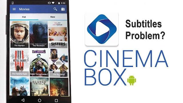 cinemabox subtitles problem