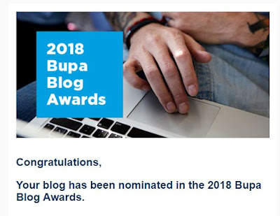 Cresting the Hill was a 2018 Nominee for the BUPA Blogging Awards