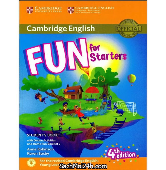 Cambridge FUN for Starter Movers Flyers 4th edition 2018 (PDF + Audio) Bản Đẹp