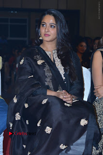 Actress Anushka Anushka Shetty Stills in Black Salwar Kameez at Om Namo Venkatesaya Audio Launch Event  0003.JPG