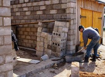 Строительство гаража из блоков фото