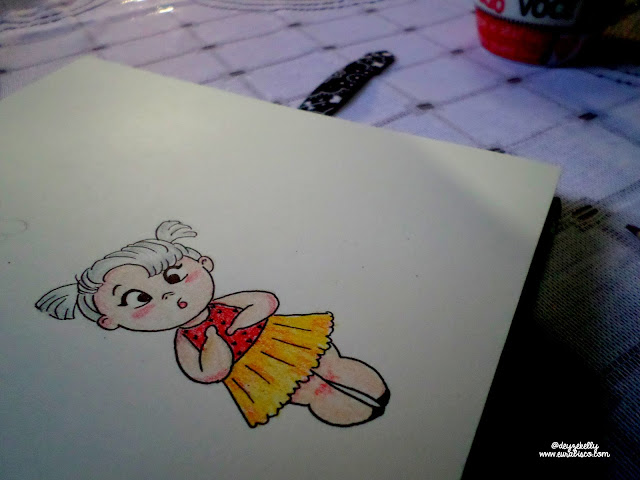 ilustração menina fofa