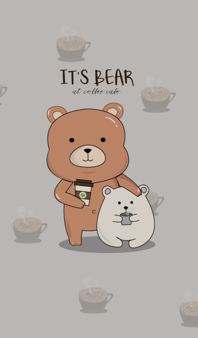 It's Bear at Coffee cafe