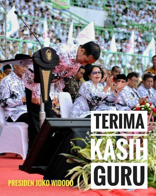 Pesan Presiden Joko Widodo Dalam Perayaan HGN dan HUT PGRI Tahun 2017