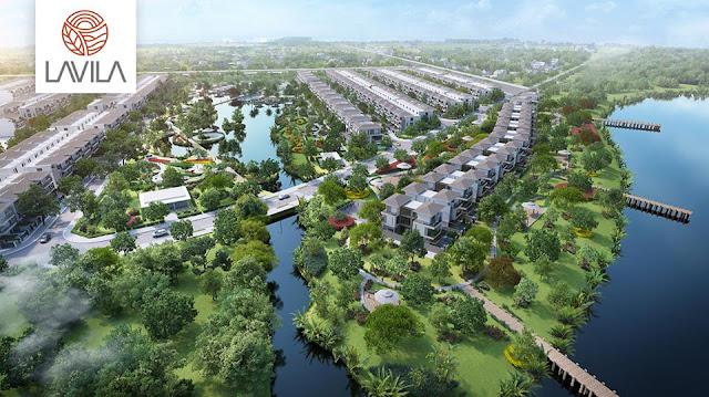 Phối cảnh dự án Lavila Nhà Bè, phát triển bởi kiến á.
