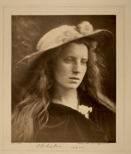 Ophelia Study No. 2. 1867. Julia Margaret Cameron. Albumen print, 33.0 x 27.1 cm. George Eastman House Collection. In Photos: Remembering Celebrity Photographer Julia Margaret Cameron, history of photography, vintage photos, photography news, photography