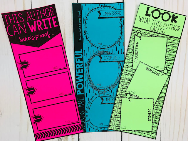 Bookmarks about writing