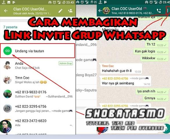 Cara Membagikan Link Invite Grup Whatsapp