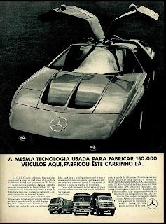 propaganda caminhões Mercedes Benz com C 111 1971