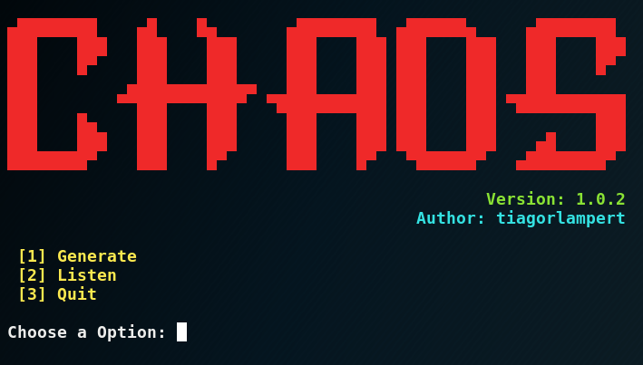 CHAOS Framework - Generate Payloads and Control Remote Machines