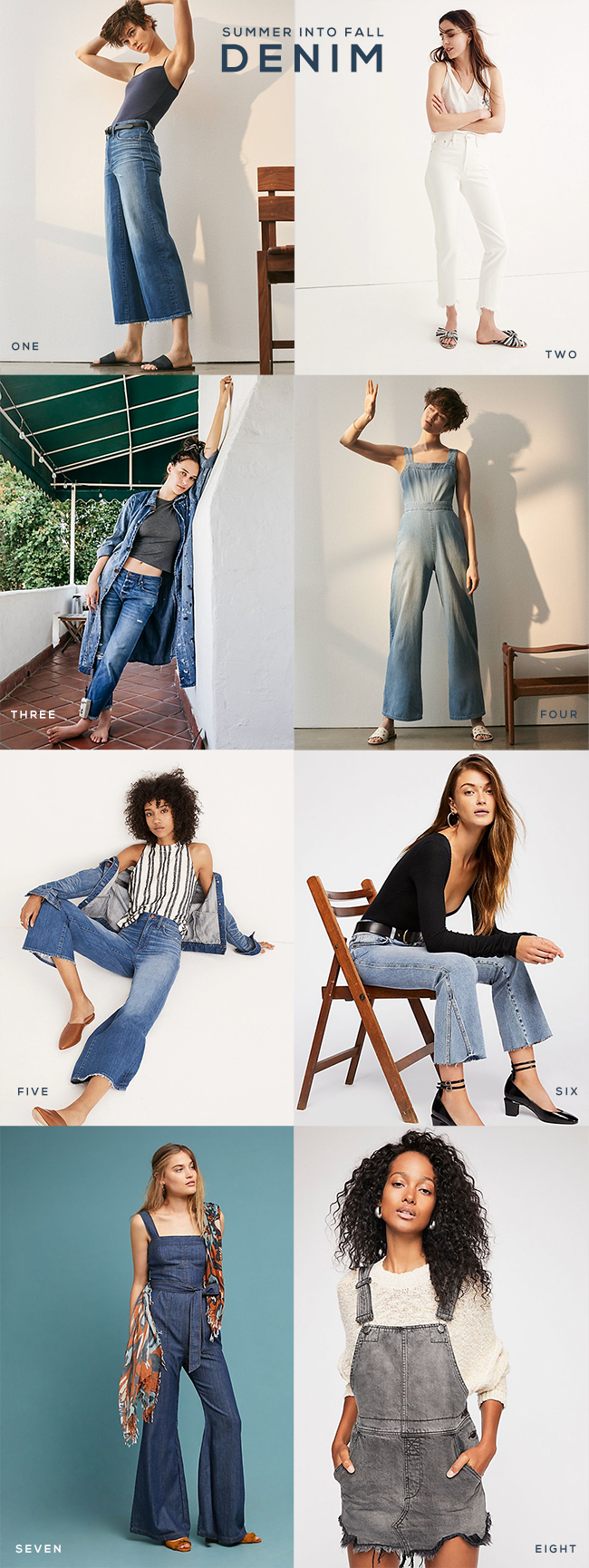 8 Summer Into Fall Denim Looks