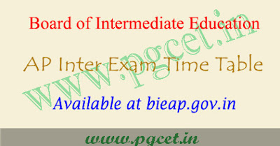 BIEAP Inter exam time table 2019-2020 pdf, Ipe hall tickets