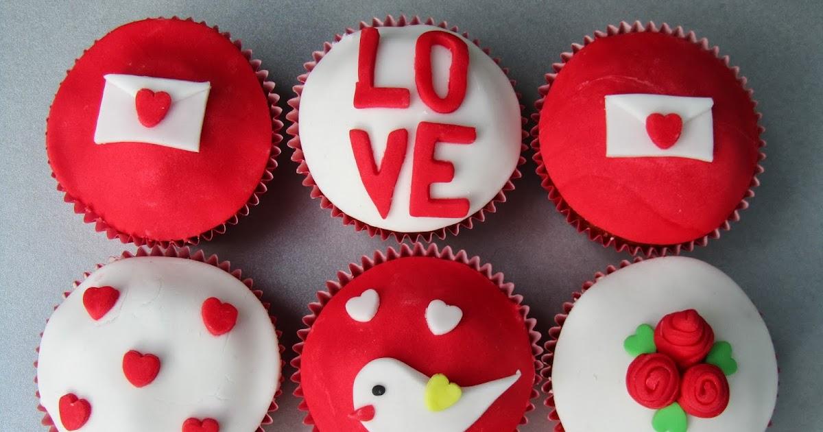 cookies cupcakes f r valentinstag. Black Bedroom Furniture Sets. Home Design Ideas