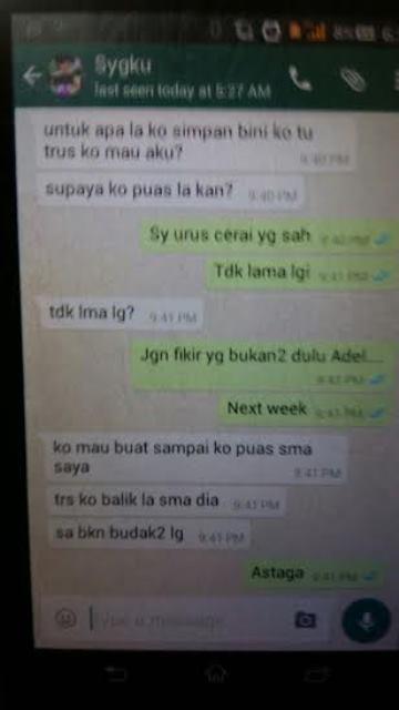 Perbualan Whatsapp bekas peserta AF 2014