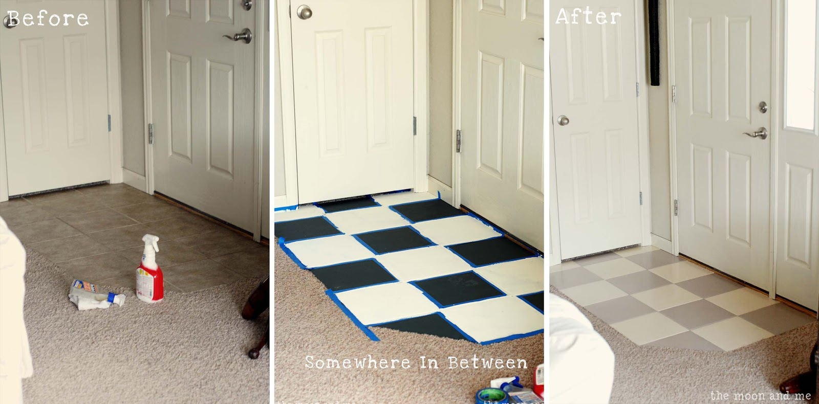 Beautiful The Moon and Me: Painting a Tile Floor ~ Tips and Grumbles VO04