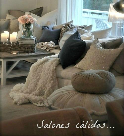 """Cómo decorar tu salón en invierno, sin """"arruinarte""""."""