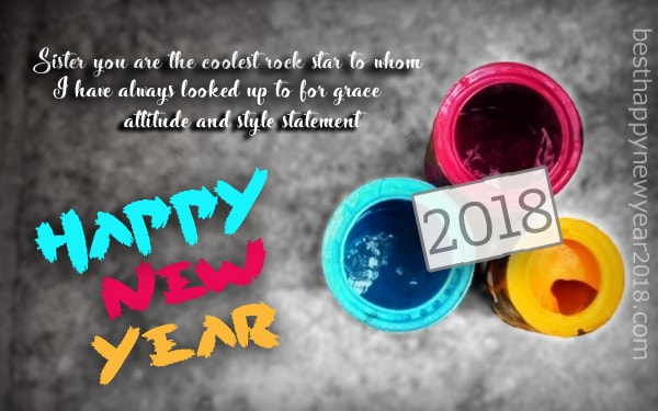 Happy New Year 2018 Quotes for Sister