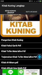 Tampilan Aplikasi Kitab Kuning Lengkap