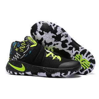 Nike Kyrie Irving 2 black white volt   Sepatu Basket Premium, harga nike kyrie irving 2, nike kyrie irving 2 basket, nike kyrie irving 2 premium, replika ,import