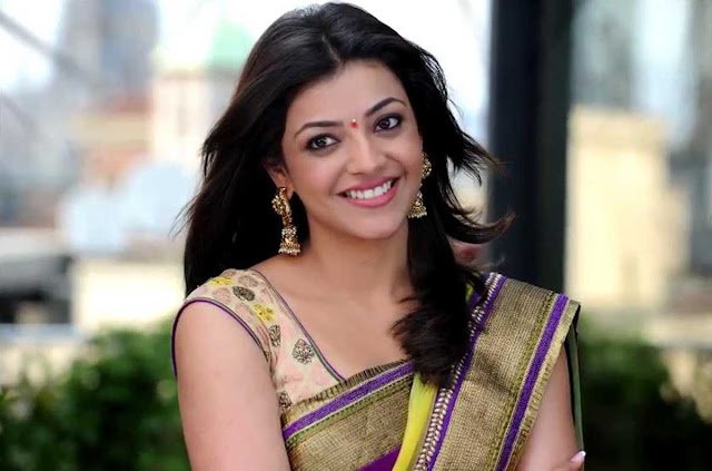 kajol agarwal in saree hd wallpapers