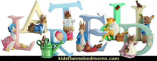 Beatrix Potter decorative letters