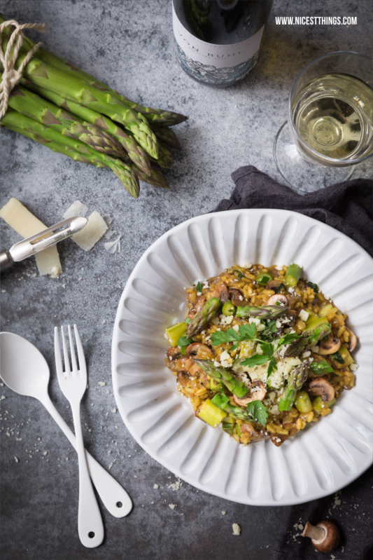 Jamie Olivers Spargelrisotto Rezept mit Pilzen
