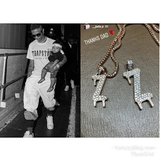 Wizkid buys son customized diamond neckpiece