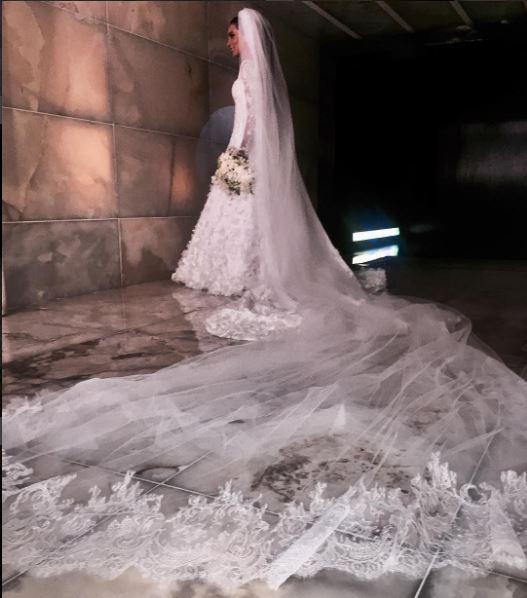 Lala Nolete veu de noiva