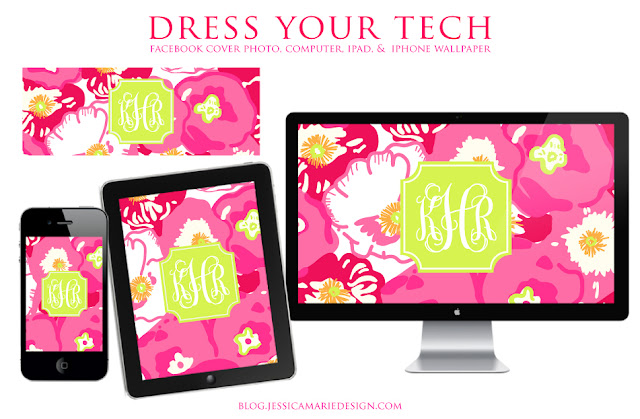 ... Wear Your Lilly Day + Monogram Lilly Dress Your Tech Wallpapers