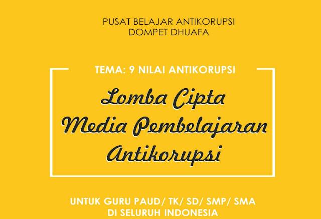 Lomba Cipta Media Pembelajaran Anti Korupsi