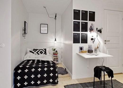 Minimalist bedroom design simple and narrow