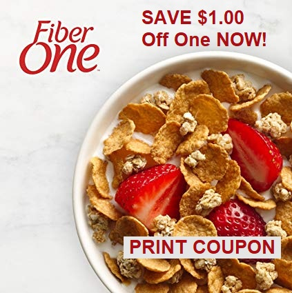 Save $1.00 when you buy ONE BOX Fiber One™ Strawberries & Vanilla Clusters cereal