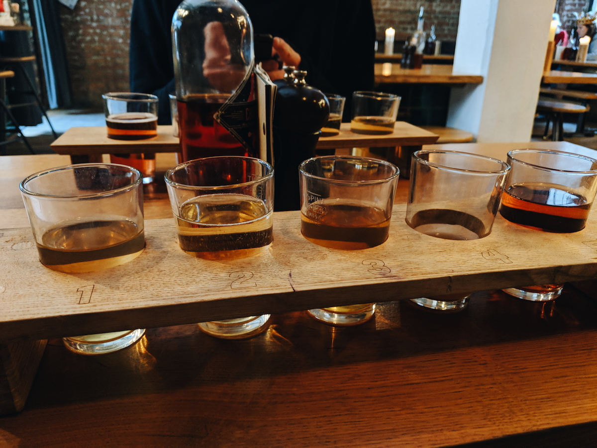 The cider tasting board from The Stable