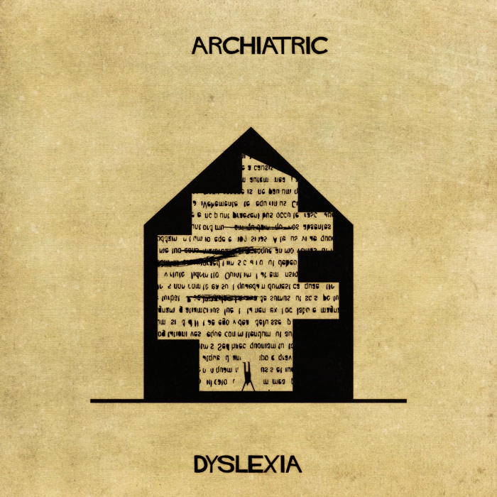 06-Dyslexia-Federico-Babina-ARCHIATRIC-Mental-Health-Illustrations-Paired-with-Architecture-www-designstack-co