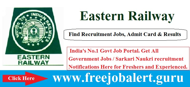 Eastern Railway Recruitment 2016, Sports Quota, Eastern Railway  Age limit is 18 to 32 years