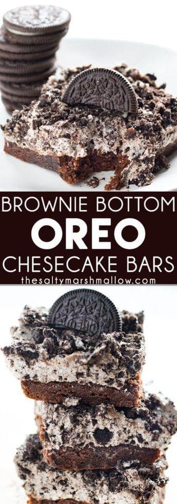 Brownie Bottom Oreo Cheesecake Bars