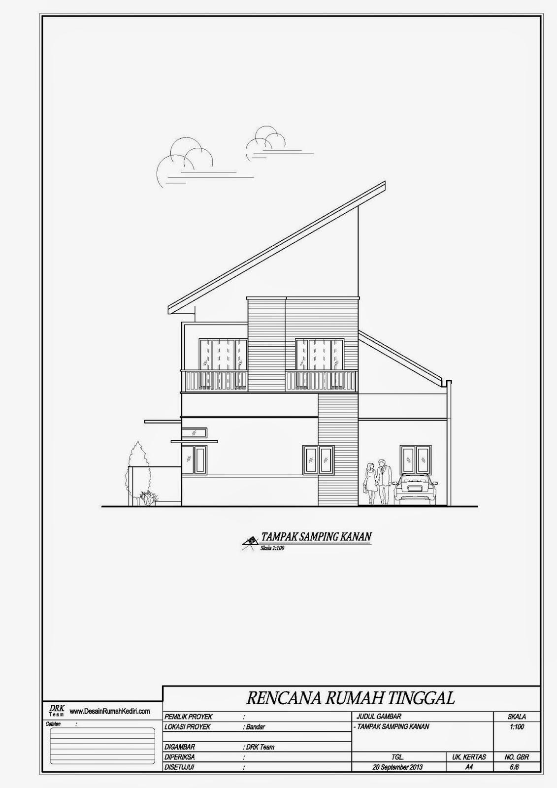 LT210  Rumah Minimalis Hook 2 Lantai Bandar Kidul Kota