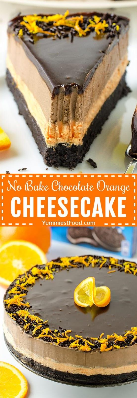 No Bake Chocolate Orange Cheesecake Recipe