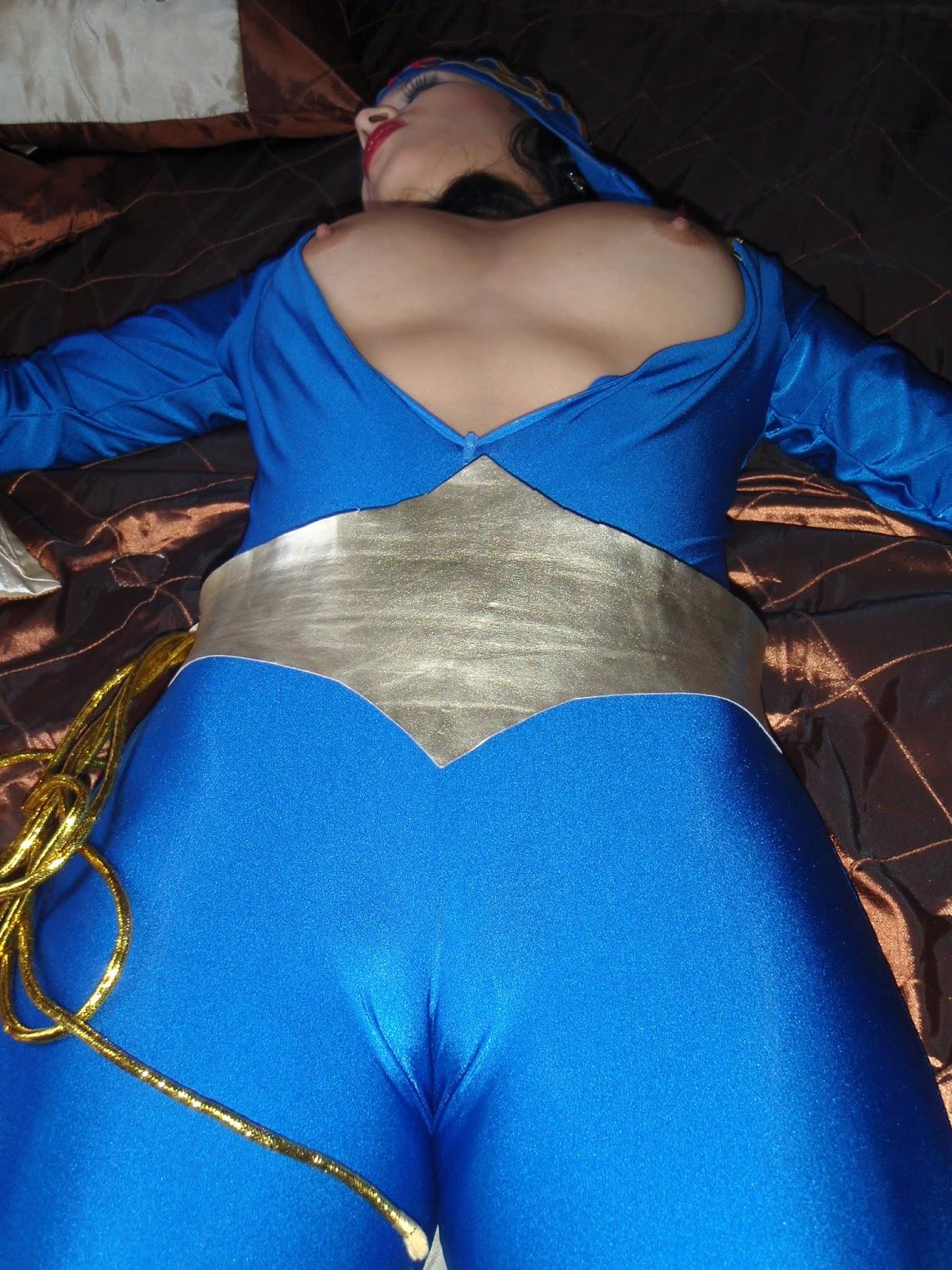 Wonder Woman Costumes Wonder Woman Underwater - Blue -3704