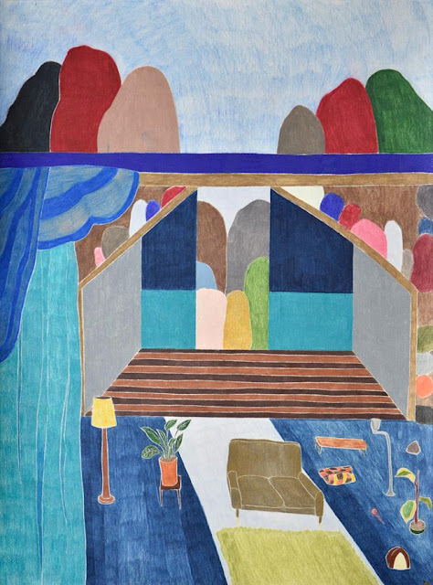 "Arte, dibujo por Ross Taylor, ""Curtain Call"", 2017, pencil on paper."