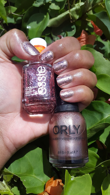 Essie 'A Cut Above' + Orly 'Rage'
