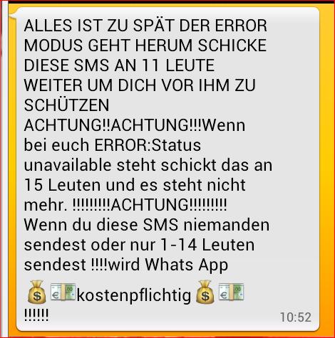 Liebes Kettenbriefe Whatsapp