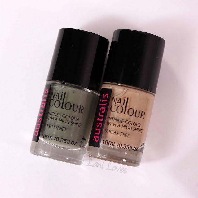 Australis Holy Kale and In The Buff nail polish swatches & review