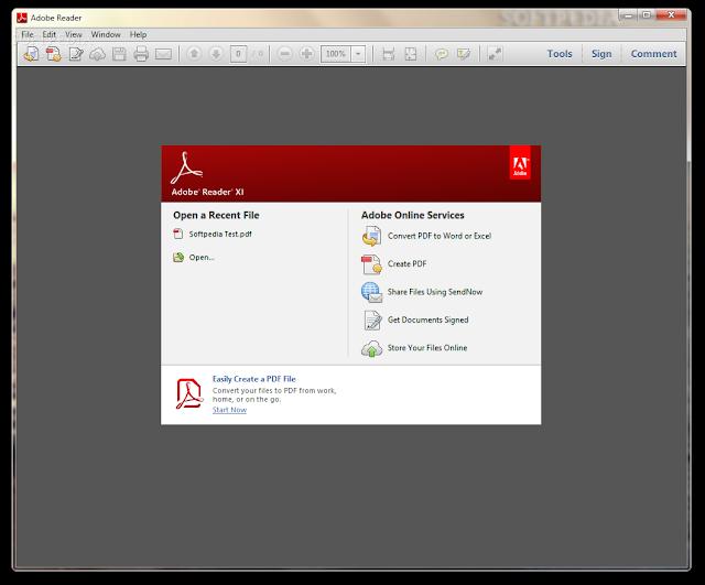 برنامج فتح ملفات PDF برنامج Adobe Reader X.