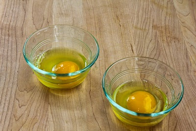 Fifteen Minute Salsa Verde Eggs found on KalynsKitchen.com