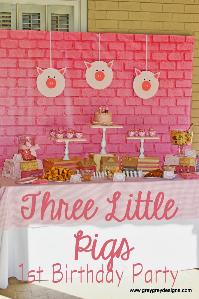 greygrey designs my parties avery s three little pigs party