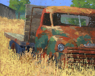 art painting truck abandoned farm chevy chevrolet rust