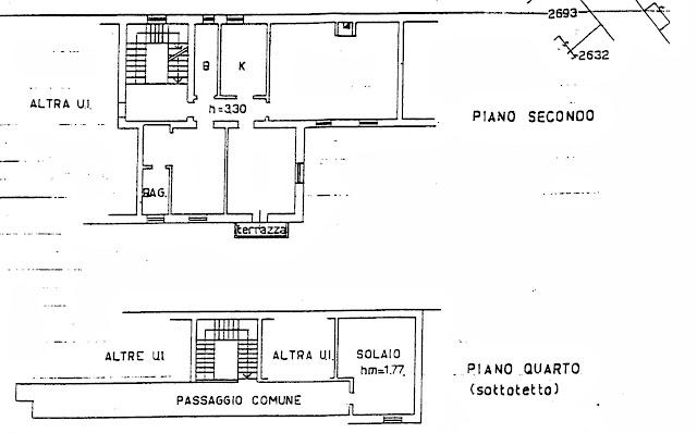 planimetria appartamento trilocale vendita bergamo via locatelli 73