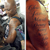 CHARLY BOY TATTOOS THE NAME OF ALL HIS CHILDREN ON HIS ARM. ALSO PIERCED HIS BALLS (SEE PHOTOS)