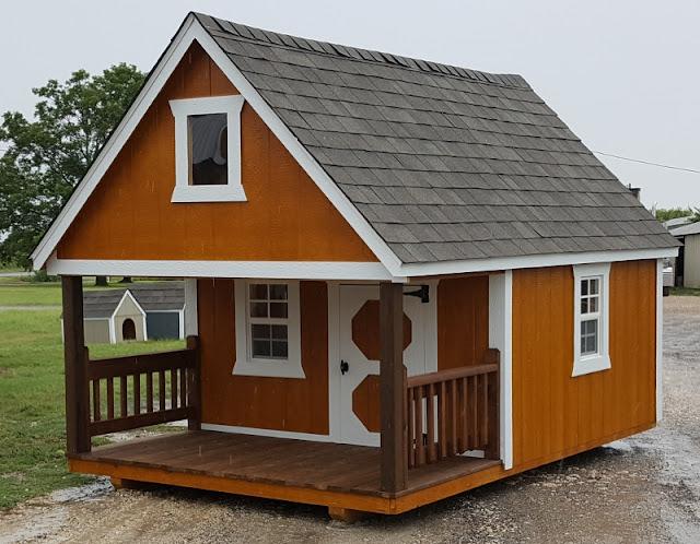 Kids Dream Playhouse, With 3u0027 Porch And Loft With A Window, 8u0027x12u0027 Portable  Building